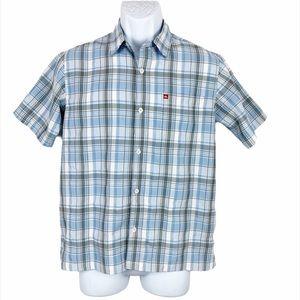 Quiksilver Boys Plaid Short Sleeve Button Down